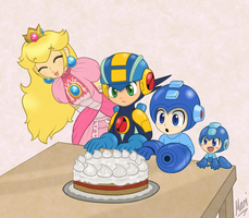 Megaman party by Marindashy