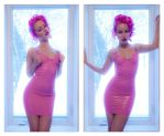 Dream Pink Latex Dress by AgatkaAltModel
