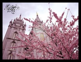 SL Temple w Cherry Blossoms 2 by JLFEclipse