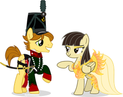 Wildfire and Mandopony by Vector-Brony