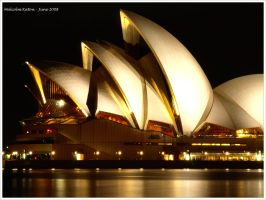 Sydney Opera House at Night 2 by FireflyPhotosAust