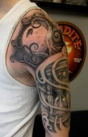 time half sleeve finished by JWheelwrighttattoos