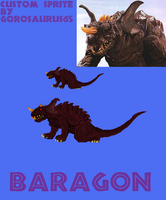 Custom Baragon Sprite by Gorosaurus65