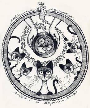 Some Fish For Lovely Cats by maria-oira