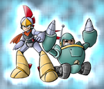 Scratch and Grounder (megaman style) by thegreatrouge