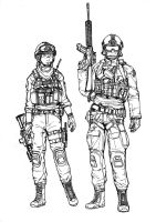 BF4 USMC Assault class (line art) by ThomChen114
