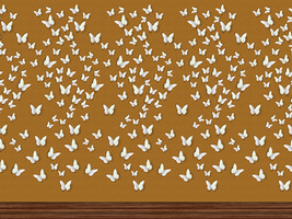 Wall with Butterflies by allison731