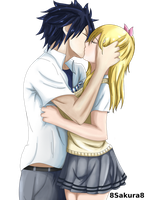 Graylu.-  Kiss v2 by 8Sakura8