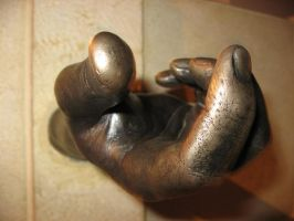 brass hand by stockofshutterbugmom