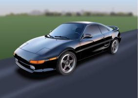 1991 Toyota MR2-GT by b10n1x