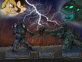 PACIFIC RIM MLP - GIPSY DANGER V.S. LEATHERBACK by chiimich