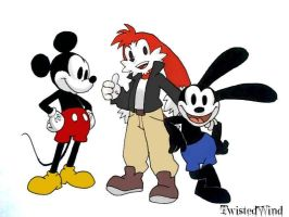 re: Mickey, Zenox and Oswald by twisted-wind