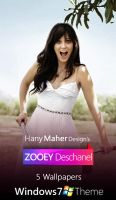 Zooey Deschanel - Win 7 Theme by Domino333