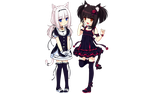 Choco and Vanilla Render (Neko Bible) by Feary-Bad-Day