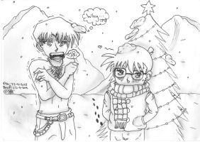 Christmas vacation/FT crossover - Detective Conan by UsagiTail