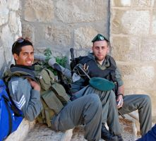Soldiers, Mount of Olives by dpt56