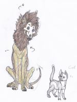 Ikii the Zombie dog and friend Carl by BREAD-the-PIRATE