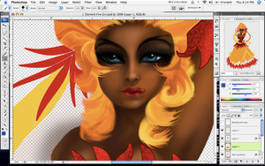 Goddess of Fire - WIP by Paola-Tosca