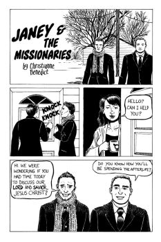Janey and the Missionaries page 1 by doctor-morbius