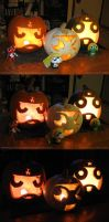 Keronian Jack O'Lanterns by TerribleToadQueen