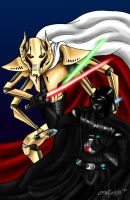 G.Grievous Vs Darth Vader by DalekMercy