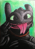 Silly Toothless (PRICE REDUCED) by sugarpoultry