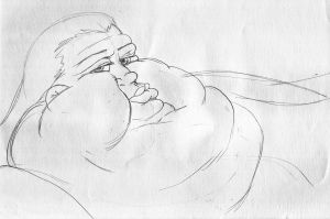 Fat face (Sketch) by koudelka2005