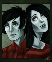 MarshallLee+Marceline by Weissidian