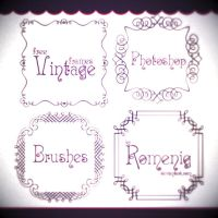 Vintage Free Frames Brushes by Romenig
