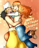 Happy Birthday Usopp-kun by Smudgeandfrank