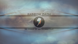 Rainbow Dash 20% cooler in ten seconds flat by pims1978