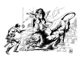 Frazetta tribute by MinckOosterveer
