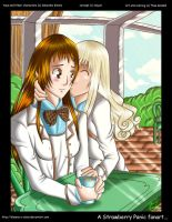 Morning kiss at Spica school by Sheena-X-Zelos