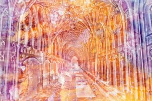 Vibrant Watercolor Cloister - Exclusive Premade by somadjinn