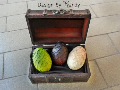 Game of Thrones Dragon Eggs - Rhaegal, Drogon and by DesignByWendy