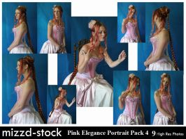Pink Elegance Portrait Pack 4 by mizzd-stock
