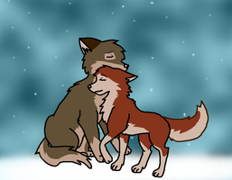 Balto and Jenna by wolfpup6