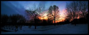 Winter Park Panorama by FramedByNature