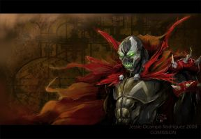 Spawn COMISSION by nightgallon