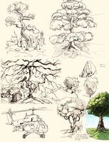 I drew some trees by Morisan
