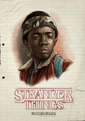 STRANGER THINGS - LUCAS by RUIZBURGOS