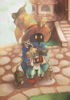Final Fantasy IX - Vivi (also cats) by junkdoesart