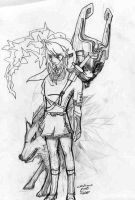 Link, Wolf and Midna by crislink
