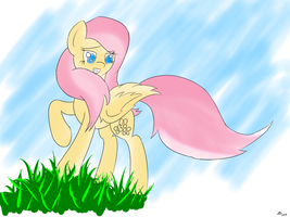 Overconfident Fluttershy by Dawn079