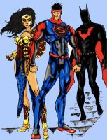 Superman Wonder Woman Batman by grimmcj