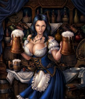 Dimona the Bar Maiden by Candra