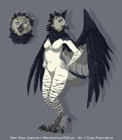 Harpy Eagle - Anthro by Pample