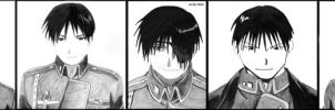 5 faces.Roy Mustang's 5 faces by VeIra-girl