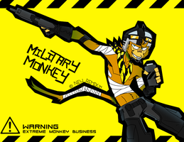 Military Monkey by NewRemix24