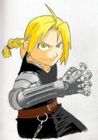 Edward Elric: Colored Version by ShadowSparda